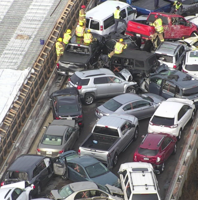 cars were involved in this traffic incident